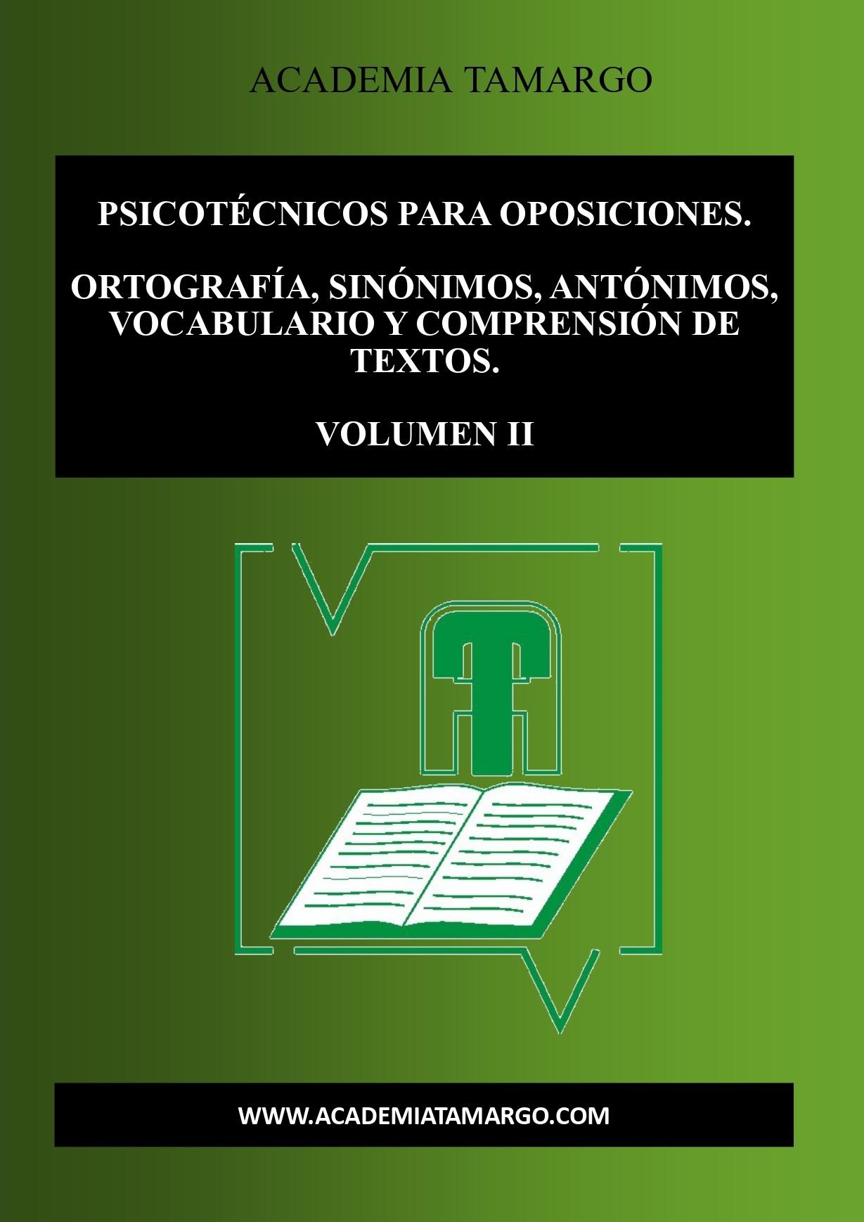 portada, contraportada y lomo de PSICOTÉCNICOS VOLUMN II_page-0001