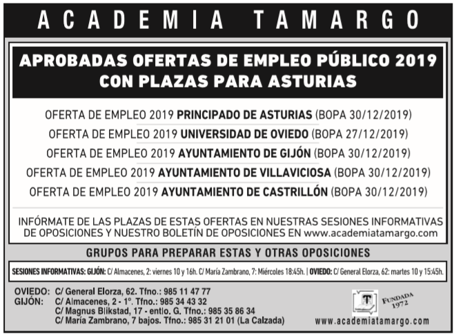 oferta de empleo publico de asturias