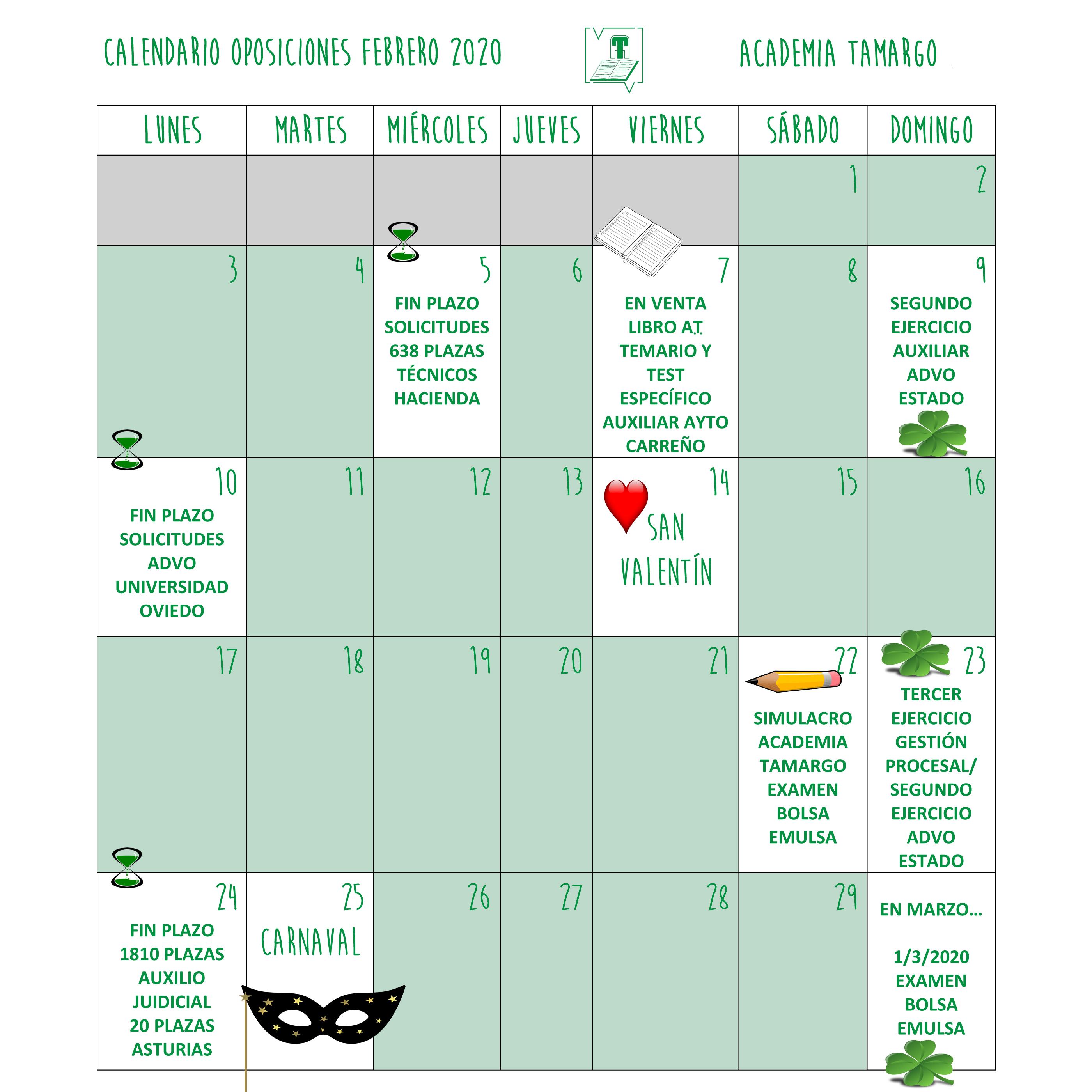 Microsoft Word – CALENDARIO FEBRERO 2020.doc