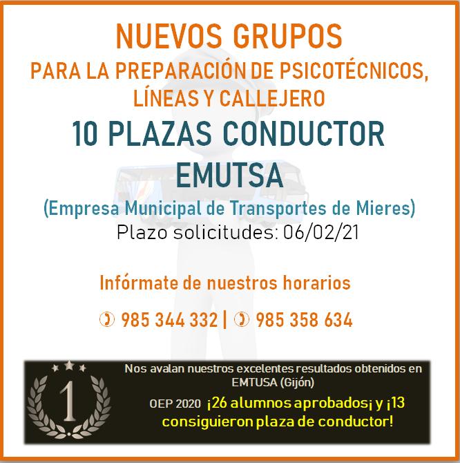 Plazas EMUTSA