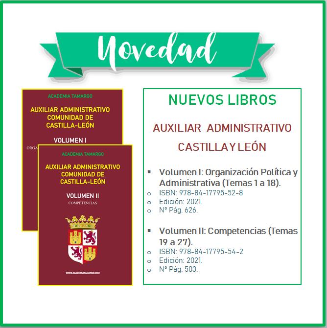 Temario Auxiliar Administrativo – Castilla y León