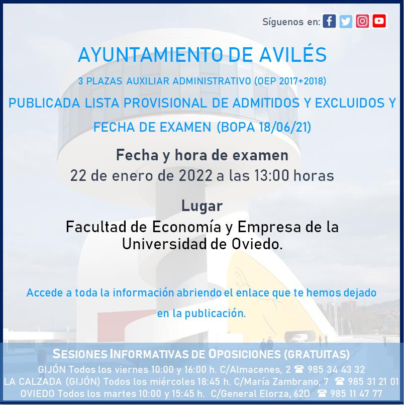 Examen Ayto Avilés