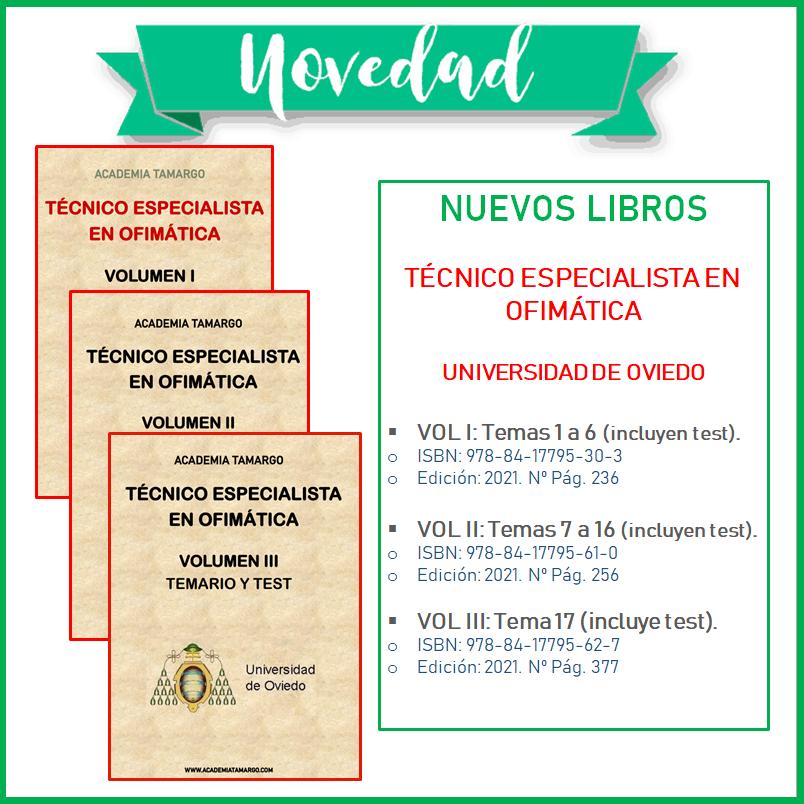 Nuevos Libros Técnico Especialista Ofimática